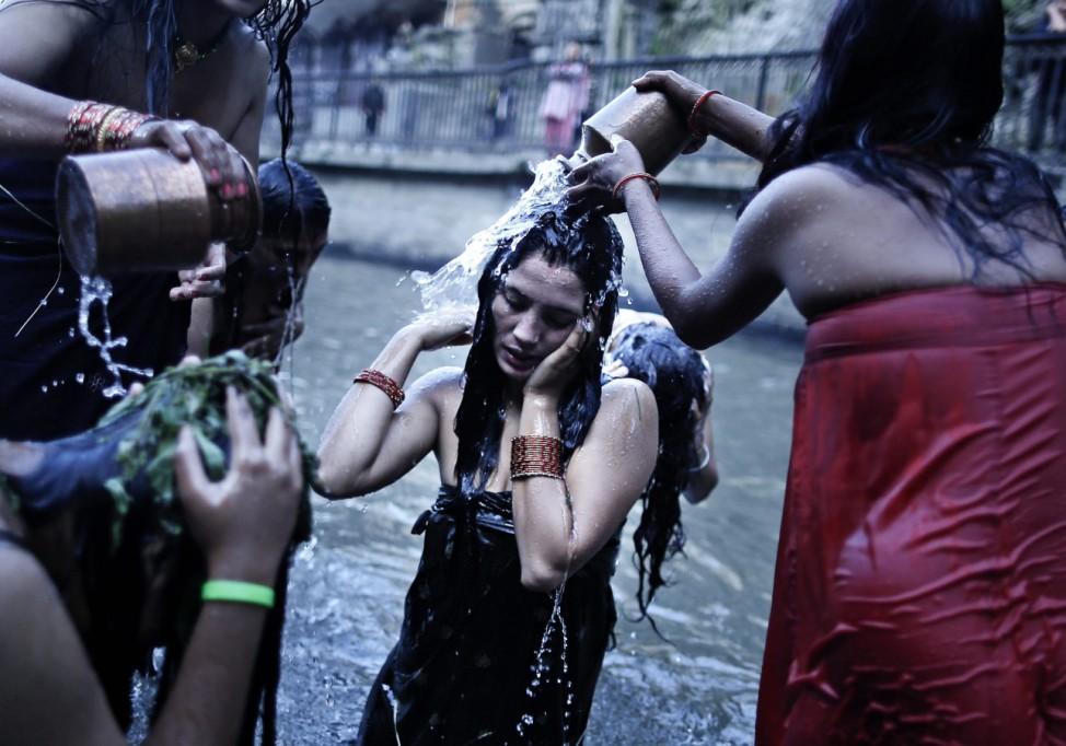 Rishi Panchami festival on the bank of Bagmati River in Kathmandu
