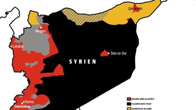 Bürgerkrieg in Syrien: Die Karte zeigt die Orte in Syrien, an denen unsere Augenzeugen leben.