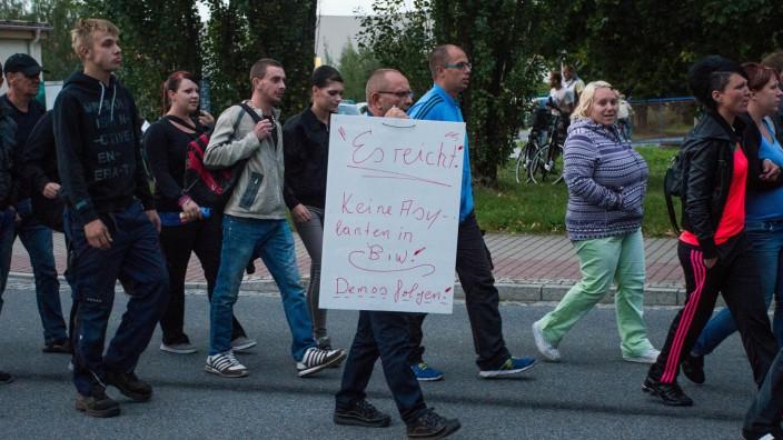 Rechtsextreme demonstrieren in Bischofswerda