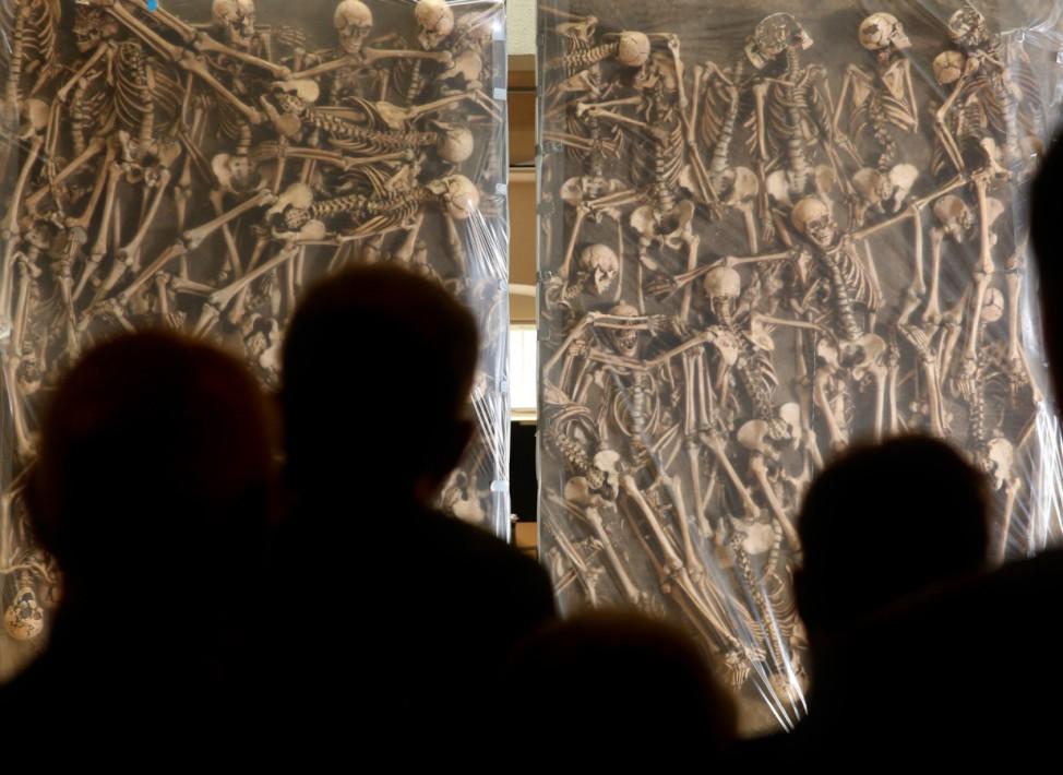 Massengrab von Lützen wird ausgestellt