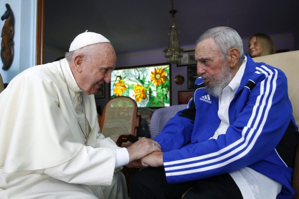 Pope Francis meets Fidel Castro in Havana