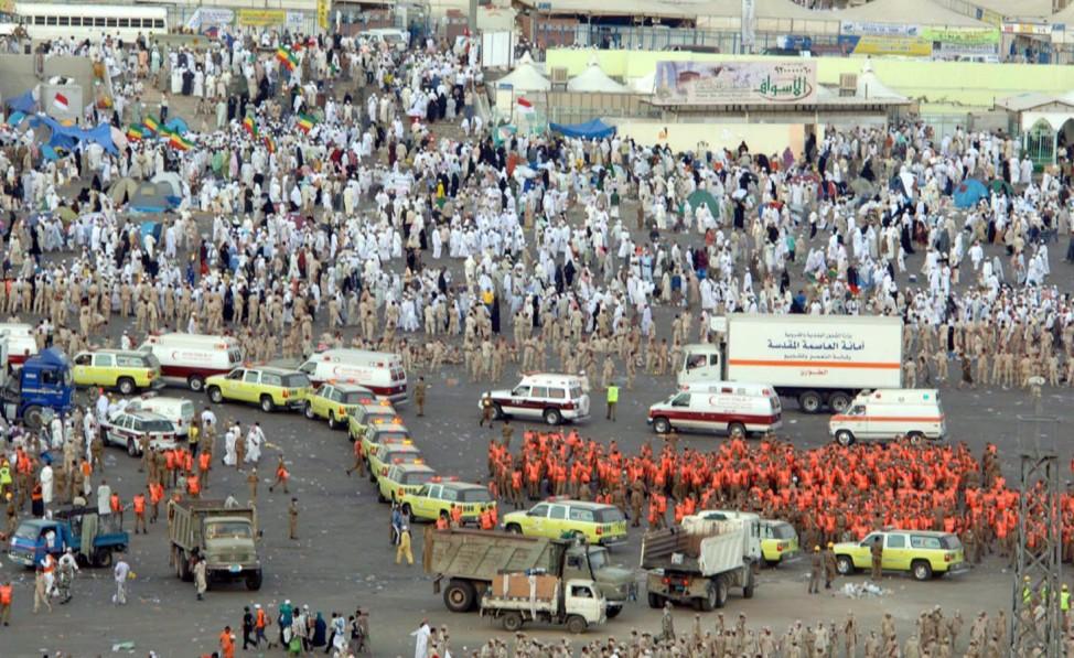 362 Muslime in Mina zu Tode getrampelt am 12.01.2006