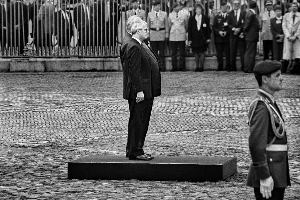Helmut Kohl und John Major