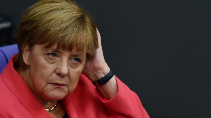 Angela Merkel Bundestag CDU Flüchtlinge