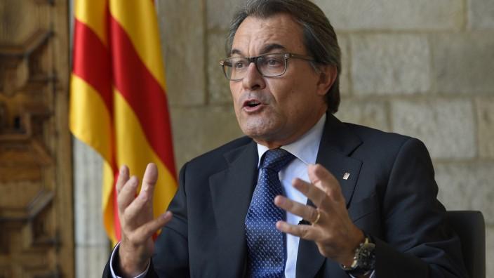 Katalonien: Widersacher des spanischen Ministerpräsidenten Rajoy: der katalanische Regierungschef Artur Mas.