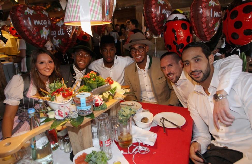 FC Bayern Muenchen Attend Oktoberfest 2015