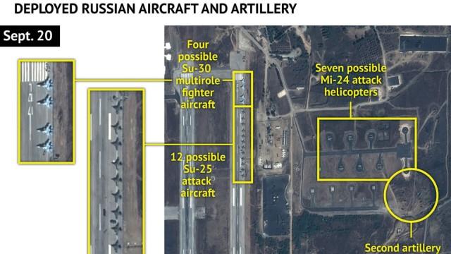 Russische Kampfflugzeuge in Syrien