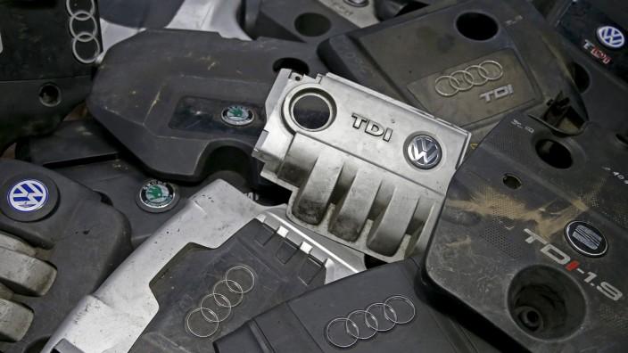 Abdeckungen von Dieselmotoren aus dem VW-Konzern.