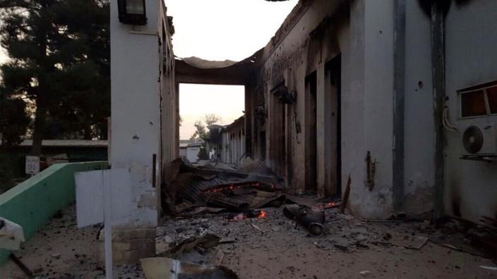 Afghanistan: Die Klinik von Ärzte ohne Grenzen nach dem Bombardement.