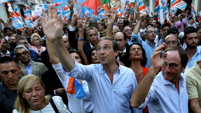 Parlamentswahl in Portugal: Spröde, aber erfolgreich: Der portugiesische Premierminister Pedro Passos Coelho hat sein Land aus der Rezession geführt.