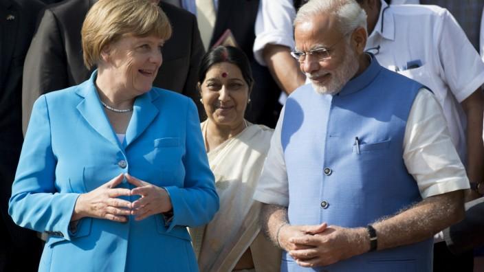 Merkel in Indien