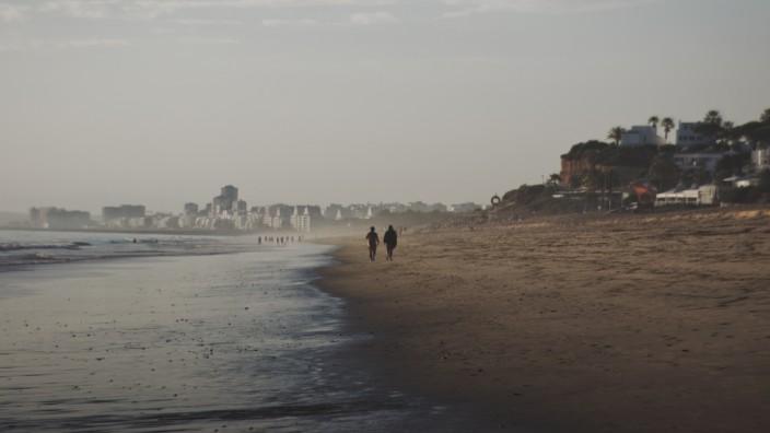 Strand von Portimão in Portugal