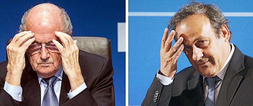 Korruption im Weltfußball: Für 90 Tage suspendiert: Sepp Blatter und Michel Platini.