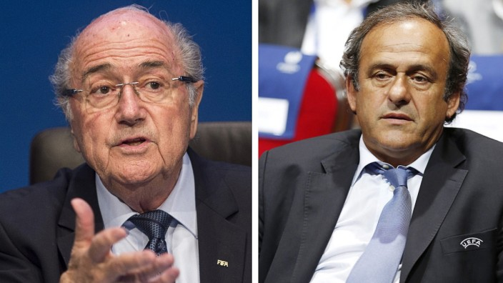 File Blatter, Valcke and Platini suspended