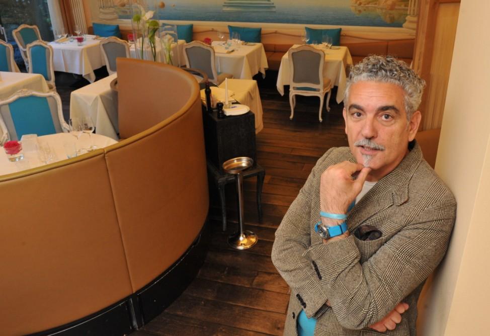 """Sternekoch Mario Gamba im Restaurant """"Acquarello"""" in München, 2014"""