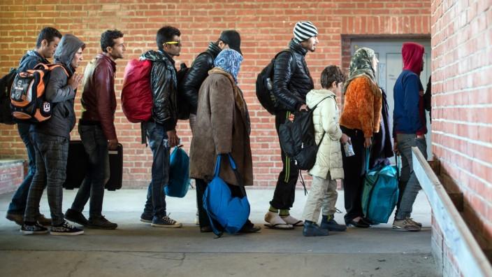 Sonderzug mit Flüchtlingen