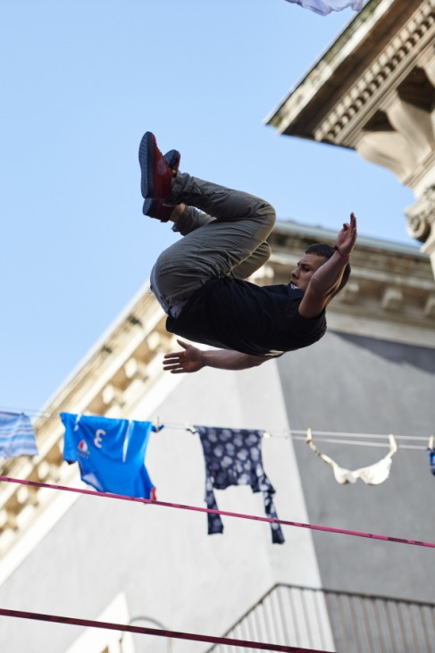 Freestyle Slackline Competition In Italy