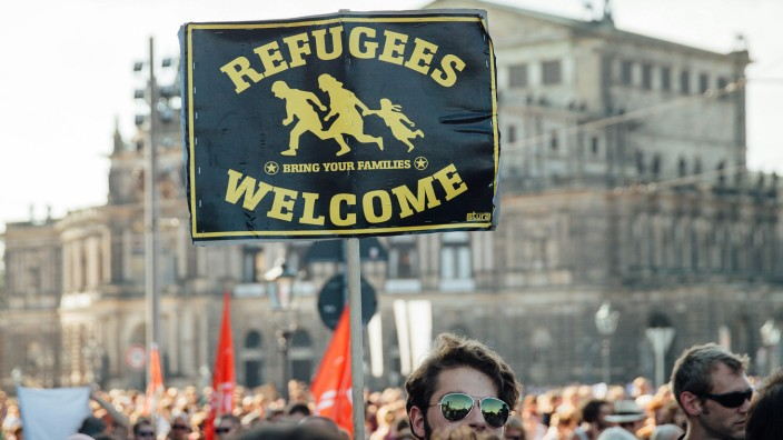 Demo gegen Fremdenhass in Dresden