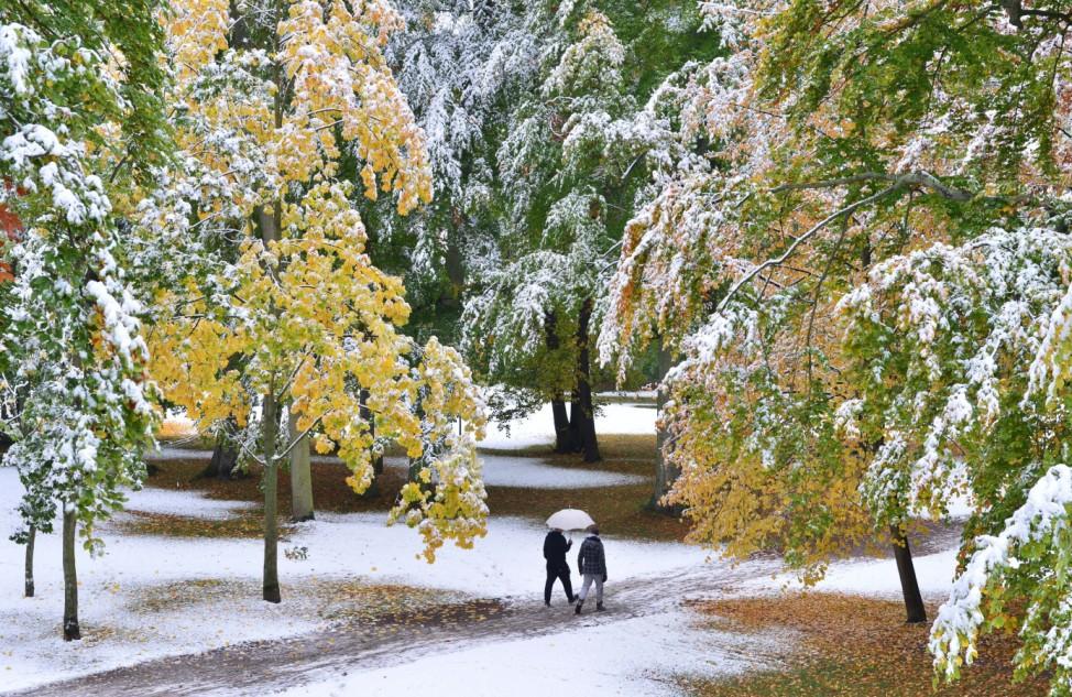 Erster Schnee in Thüringen