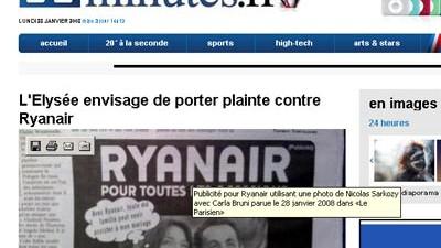 Umstrittene Werbung von Ryanair: Das umstrittene Motiv von Ryanair.