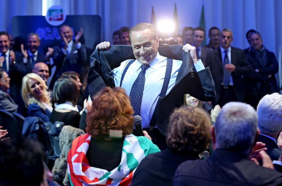 Former premier Berlusconi in Rome