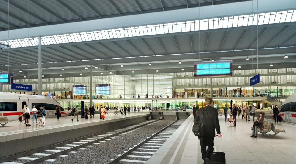 Simulation zum geplanten neuen Hauptbahnhof in München