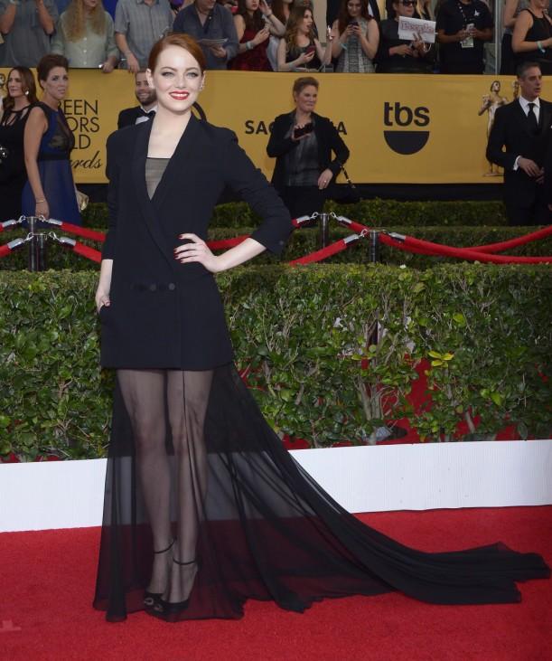 Arrivals - 21st Screen Actors Guild Awards; Emma Stone Actors Guild 2015