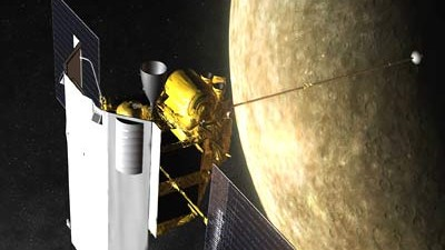 Weltraumforschung: So stellen sich die Forscher den Vorbeiflug der Sonde vor.