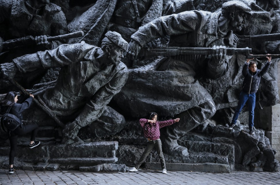Ukrainians mark 71th anniversary of the liberation of Ukraine dur