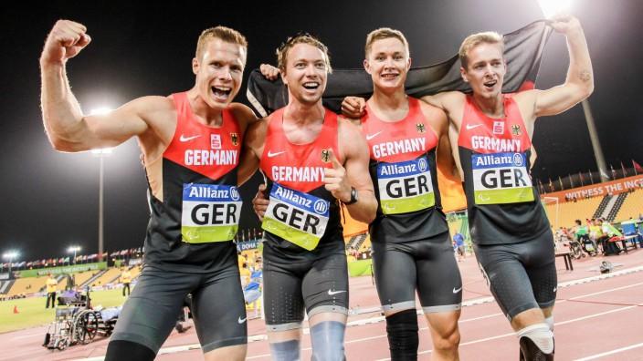 2015 IPC Athletics World Championships Doha Qatar 31 10 2015 v l die Weltmeisterstaffel Markus