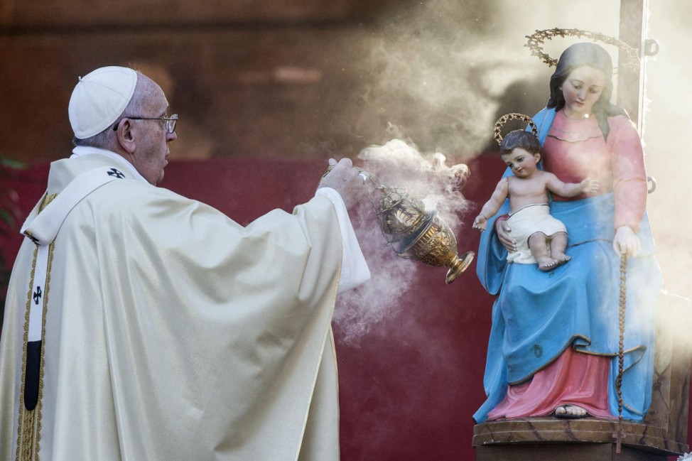 Pope Francis celebrates mass on All Saints Day
