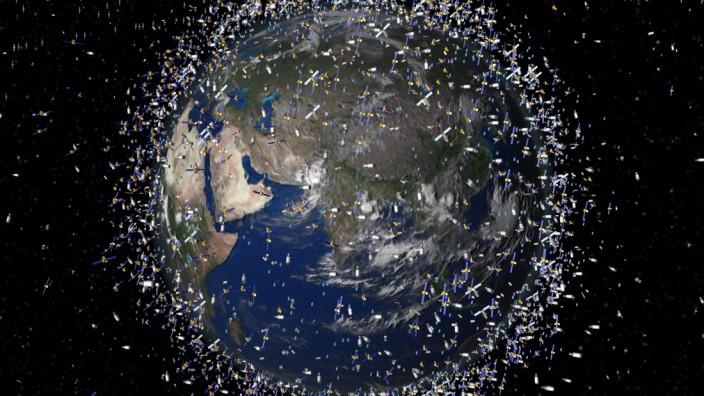 Bis 2018 System zur Entsorgung von Weltraumschrott geplant