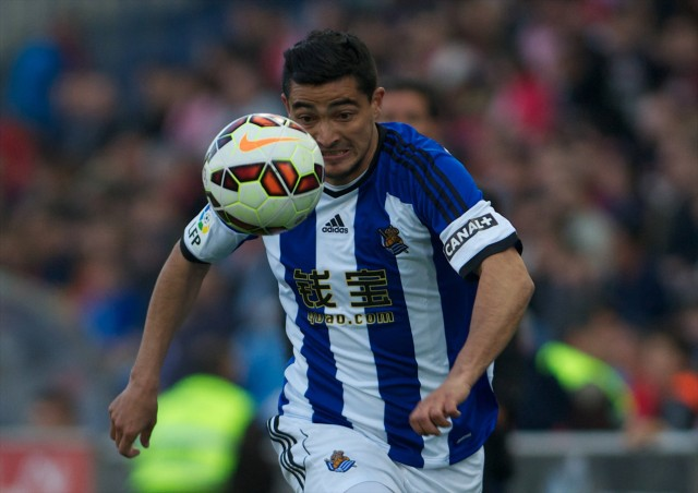 Real Sociedad Forward Gonzalo Castro Irizabal CHORY CASTRO number 18 Round 30 of the BBVA leag; Gonzalo Castro