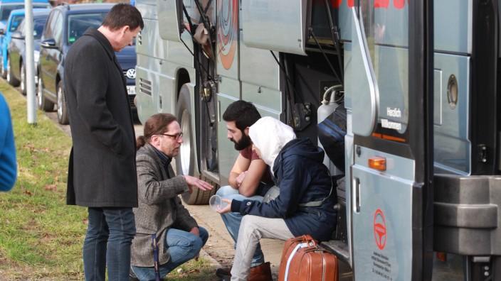 Flüchtlinge aus Syrien in der Flüchtlingsunterkunft in Weida