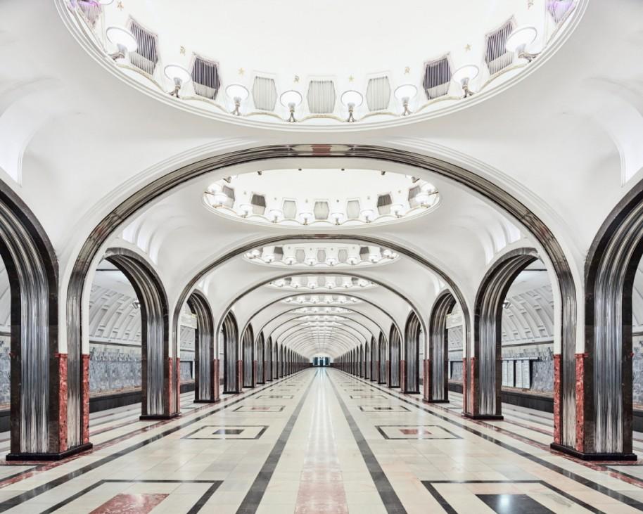 """Station """"Mayakovskaya"""", Moskau, Russland"""