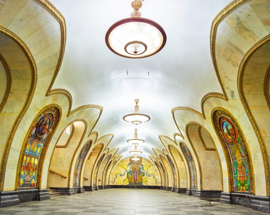 """Station """"Novoslobodskaya"""", Moskau, Russland"""