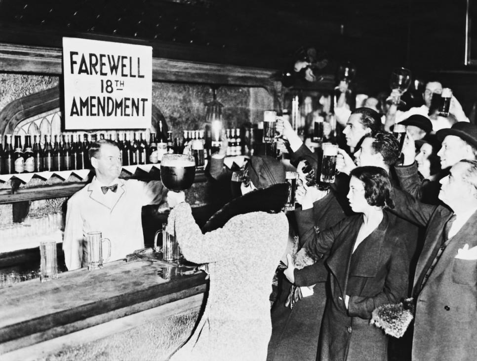 Feier zur Verabschiedung des 18. Verfassungszusatzes in New York, 1932