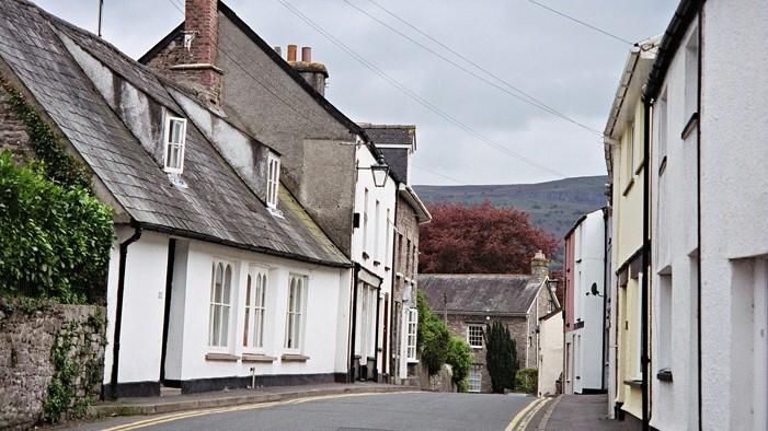 Crickhowell streetscape (Powys, Wales)