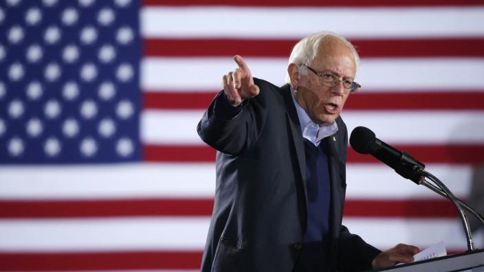 US-Demokrat Bernie Sanders: Bernie Sanders bei einem Auftritt in Nevada.