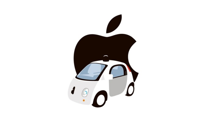 Illustration Apple und Google Car