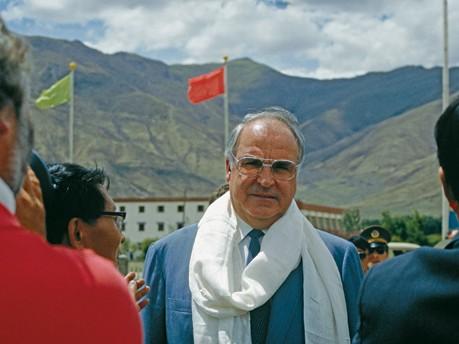 Helmut Kohl 1987 in Tibet