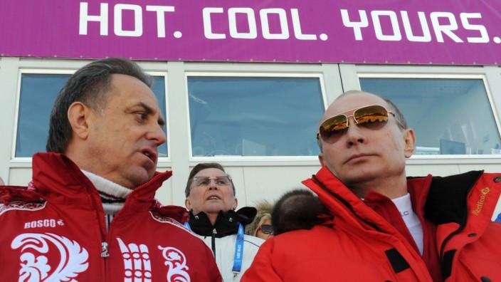 Doping: Kennt sich bestens mit Sex aus: Vize-Premier Witali Mutko neben Präsident Wladimir Putin.