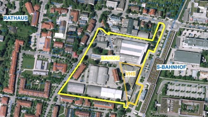 Unterföhring: Geschäfte, Innenhöfe, Gastronomie, Haus der Bildung: Die Architekten Martin Hirner und Martin Riehl haben den Siegerentwurf vorgelegt.