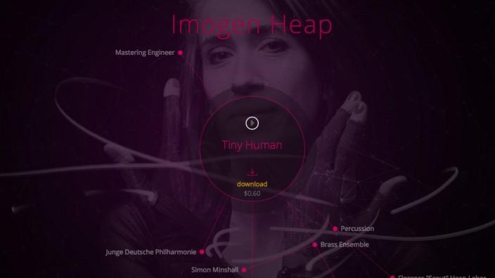 Blockchain: So sieht die Ujo-Webseite aktuell aus. Der Vertrieb von Imogen Heaps Lied soll als erstes Anwendungsbeispiel für die Blockchain-Technologie dienen.