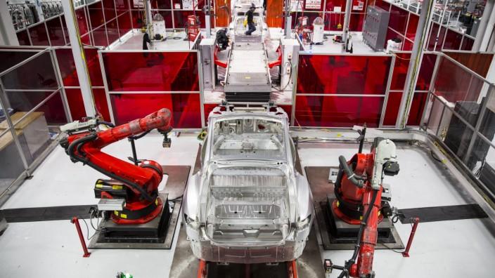 CEO Elon Musk at Tesla motors