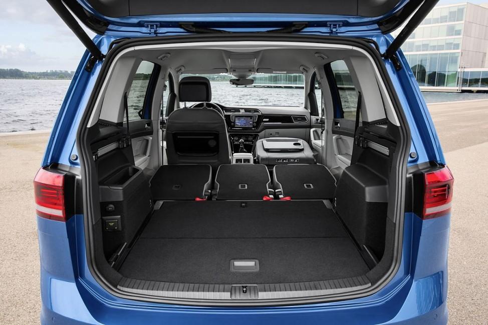 Der Kofferraum des VW Touran