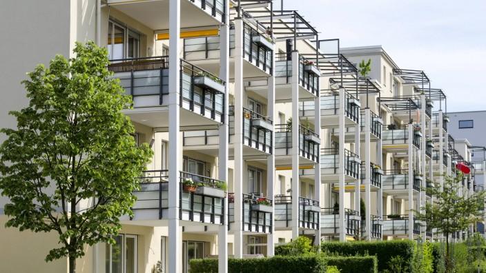 Moderner Wohnungsbau Schlossviertel Nymphenburg München Bayern Deutschland Europa iblrik0391196