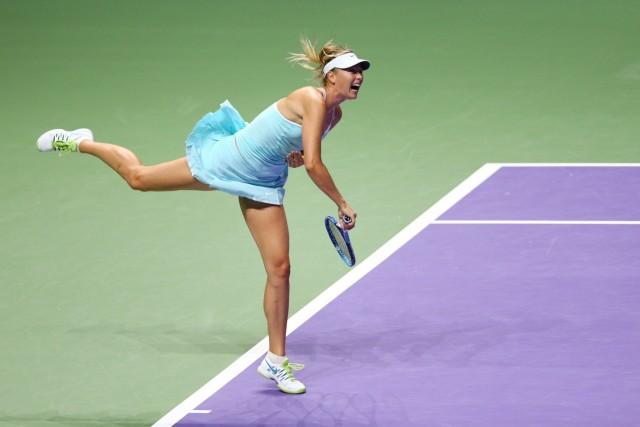 BNP Paribas WTA Finals: Singapore 2015 - Day Seven; Maria Scharapowa