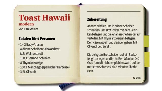 60 Jahre Toast Hawaii: Eine moderne, aber traditionsbewusste Version bietet das Rezept von Tim Mälzer.
