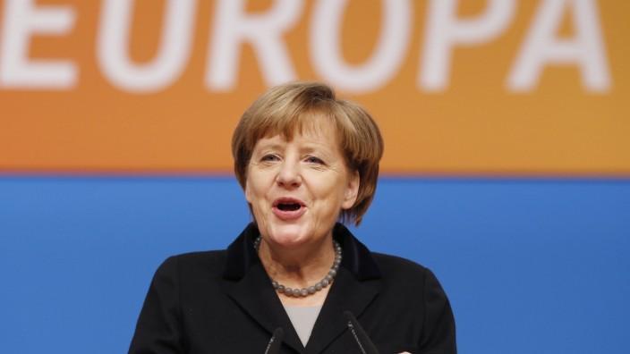 Flüchtlingspolitik: Angela Merkel beim Bundesparteitag in Karlsruhe.